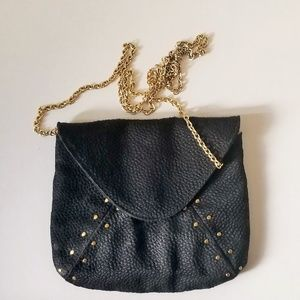 Lauren Merkin Black Gold StuddedHandbag Purse